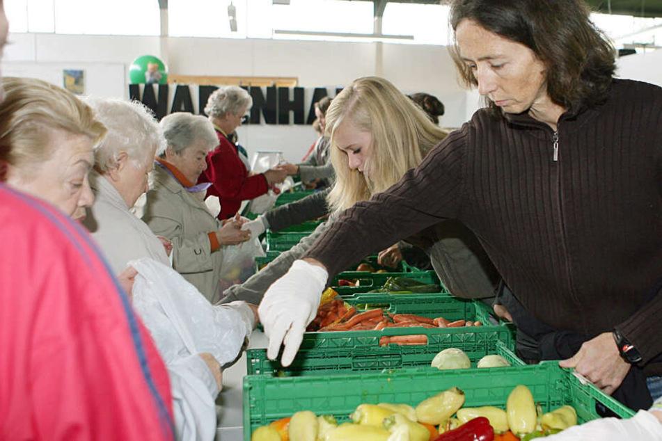 Die Wattenscheider Tafel in Bochum. 2007 verteilte die dreifache Siebenkampf-Weltmeisterin Sabine Braun hier Lebensmittel an Bedürftige.