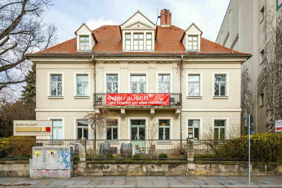"""Seit 2015 befindet sich die Neustädter """"edelrausch""""-Filiale in der Villa an der Bautzner Straße 21."""