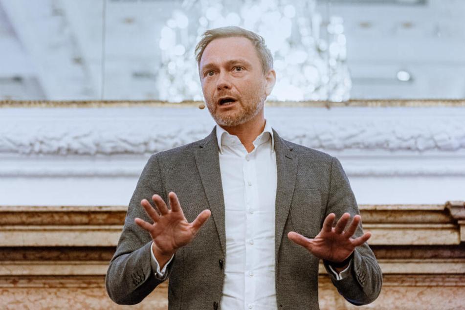 Christian Lindner stellte sich bei einer Pressekonferenz am Donnerstag den Fragen der Journalisten.