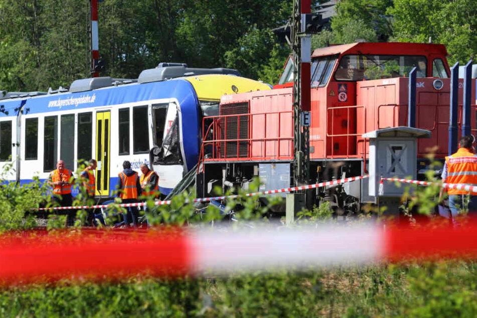 Ein Zugunglück in Aichach in Bayern hat 2018 zwei Todesopfer gefordert. (Archivbild)