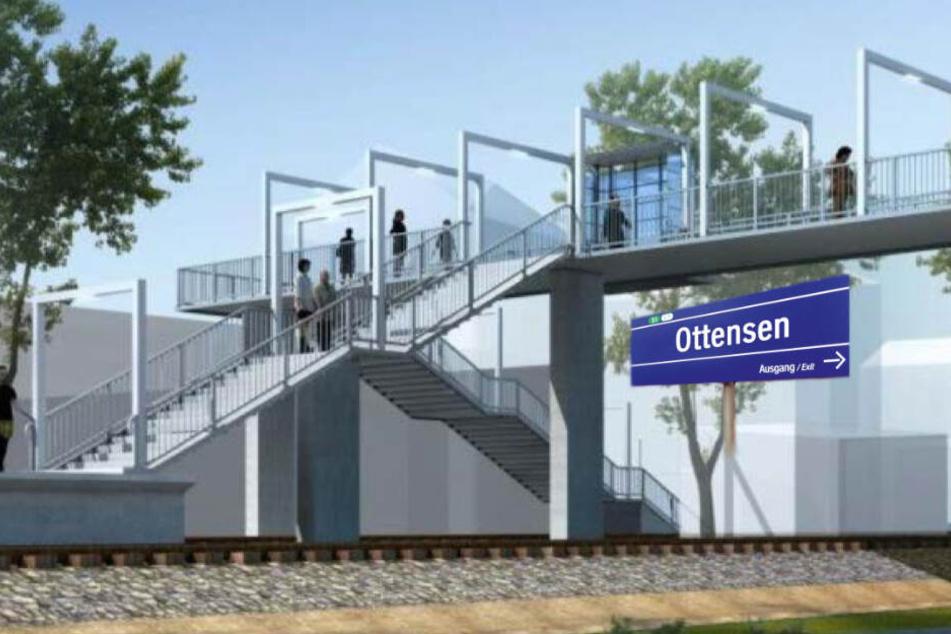 """Teure Baustelle für die neue S-Bahn-Station """"Ottensen"""" im Anmarsch!"""