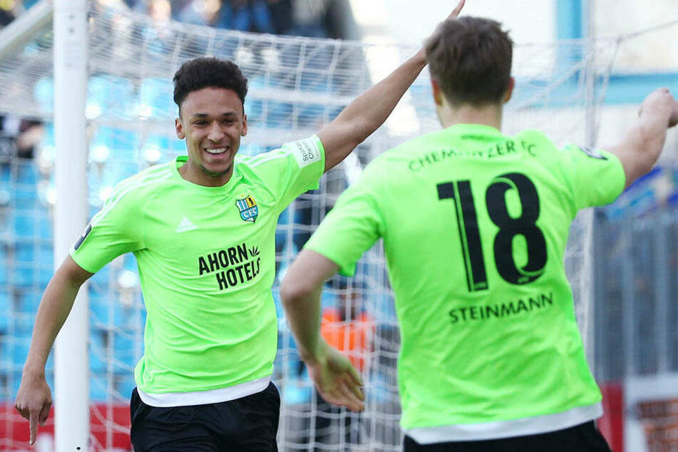 Jamil Dem (l.) möchte nach der Partie gegen Mainz erneut jubeln.