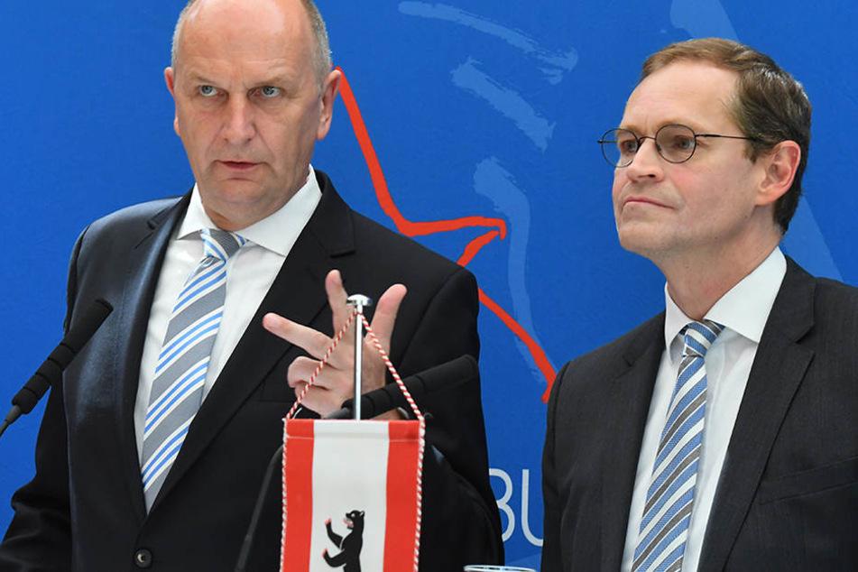 Eigentlich ist man sich in vielen Fragen immer einig: Woidke (l) und Müller.