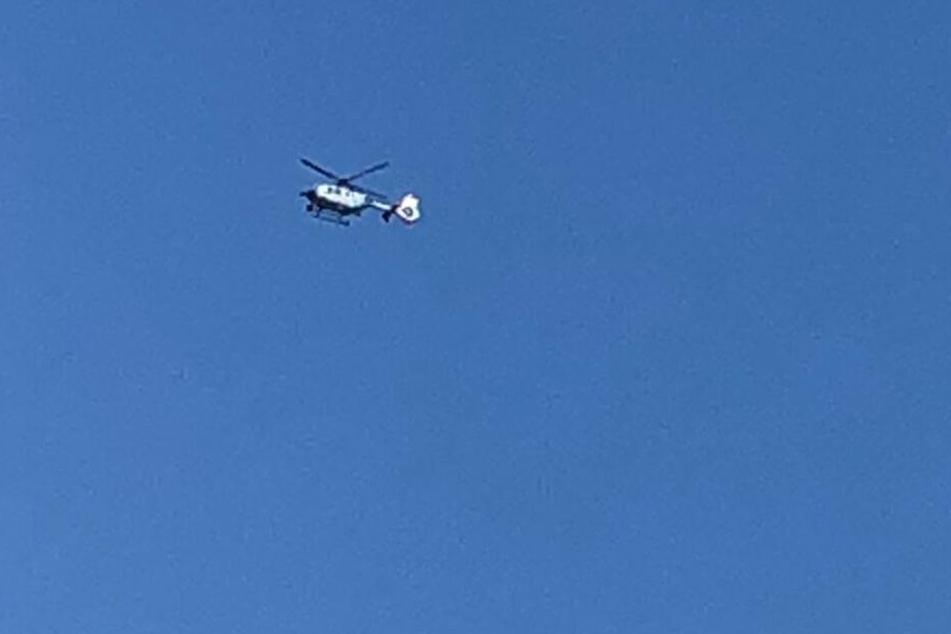 Dieser Helikopter suchte nach dem Vermissten.