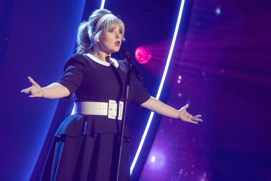 """Maite Kelly (41) bei ihrem Auftritt in der """"Giovanni Zarrella Show""""."""