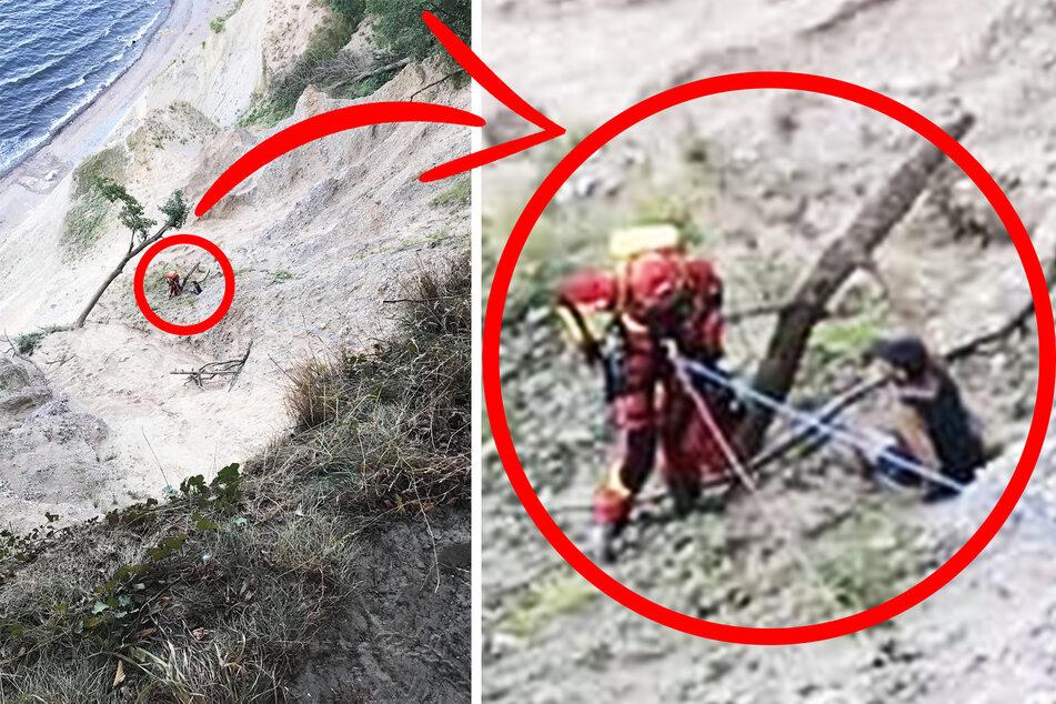 Todesangst an der Steilküste: Hier wird ein Sachse vorm Absturz auf Rügen gerettet!