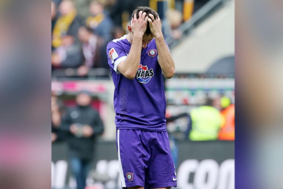 Pleite im Sachsenderby bei Dynamo Dresden, Clemens Fandrich ist tief enttäuscht.