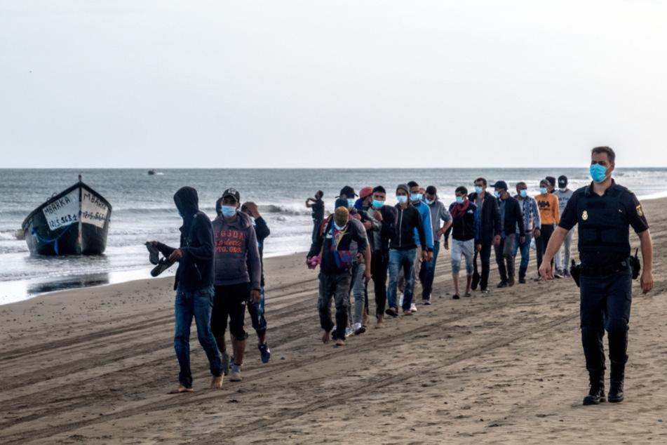 Gran Canaria, Ende Oktober: Migranten aus Marokko haben die spanische Insel erreicht.