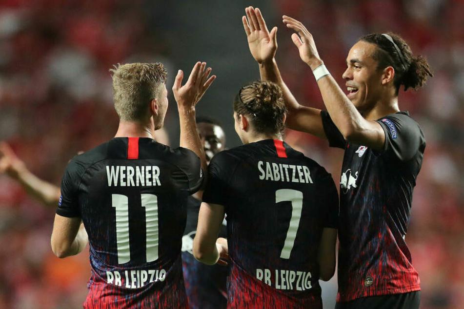 RB Leipzig feierte einen 2:1 bei Benfica Lissabon zum Auftakt in die Königsklasse.