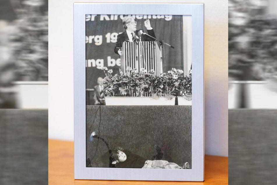 Hubertus Heil als Sechsjähriger auf dem Kirchentag: Am Rednerpult steht der damalige Kanzler Helmut Schmidt.