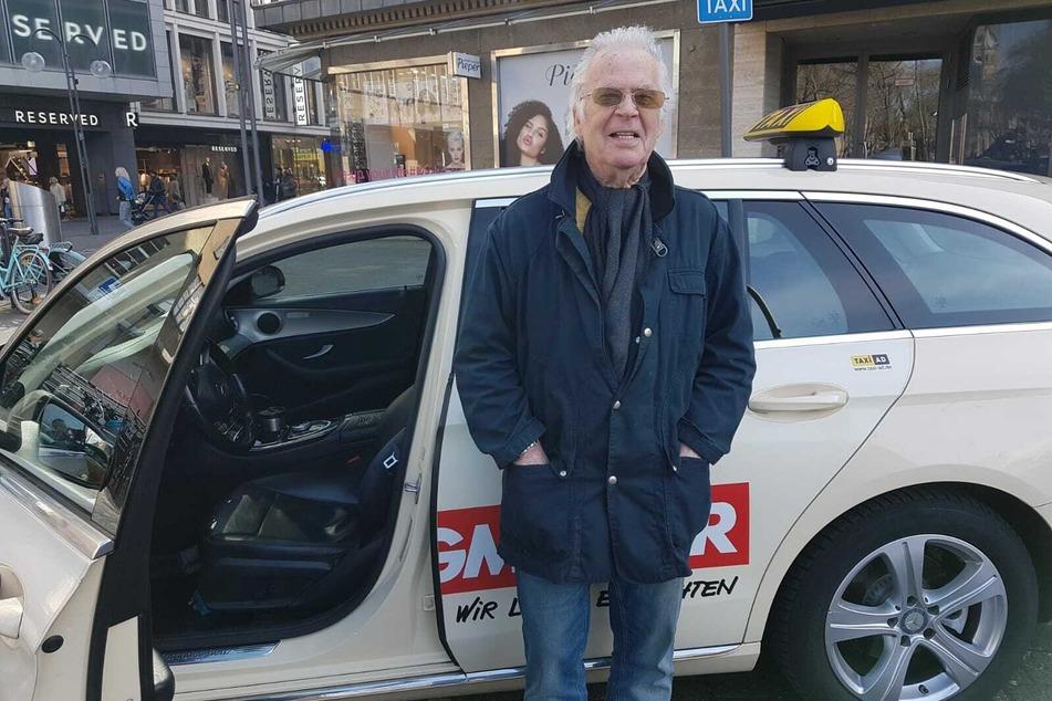 Taxifahrer Horst (79) hat wegen der Coronakrise deutlich weniger zu tun als sonst.