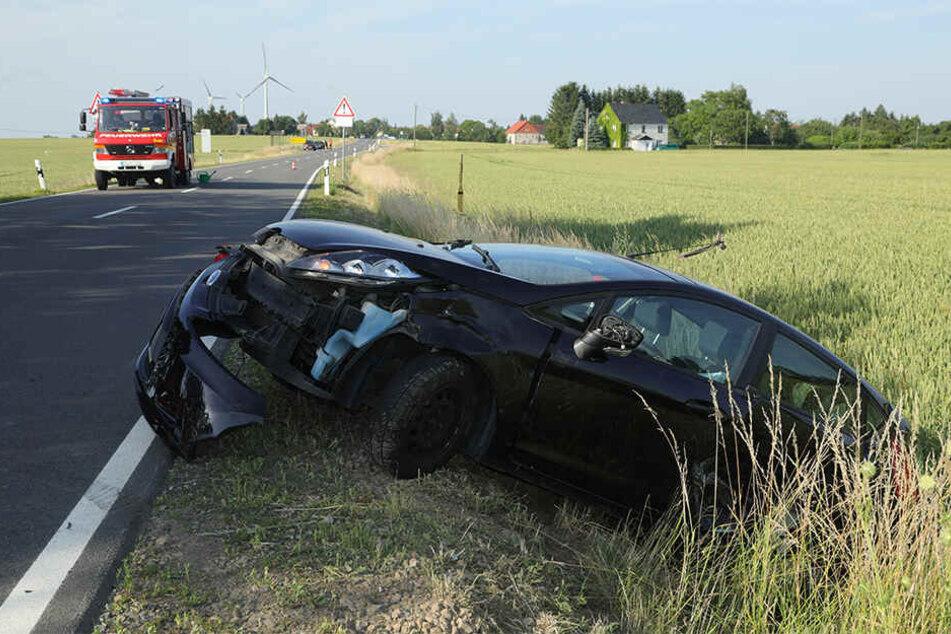 Der Ford Fiesta wurde ebenfalls heftig erwischt.