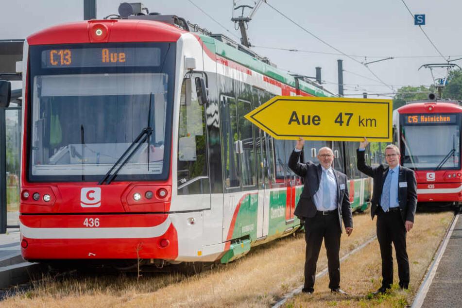 Bis Juni sollen die Bauarbeiten an den Bahnbrücken beendet sein. Im Dezember soll dann die Citybahn von Chemnitz nach Aue rollen.