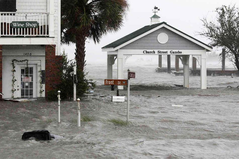 Die Innenstadt von Swansboro (North Carolina) fiel den Wassermassen zum Opfer.