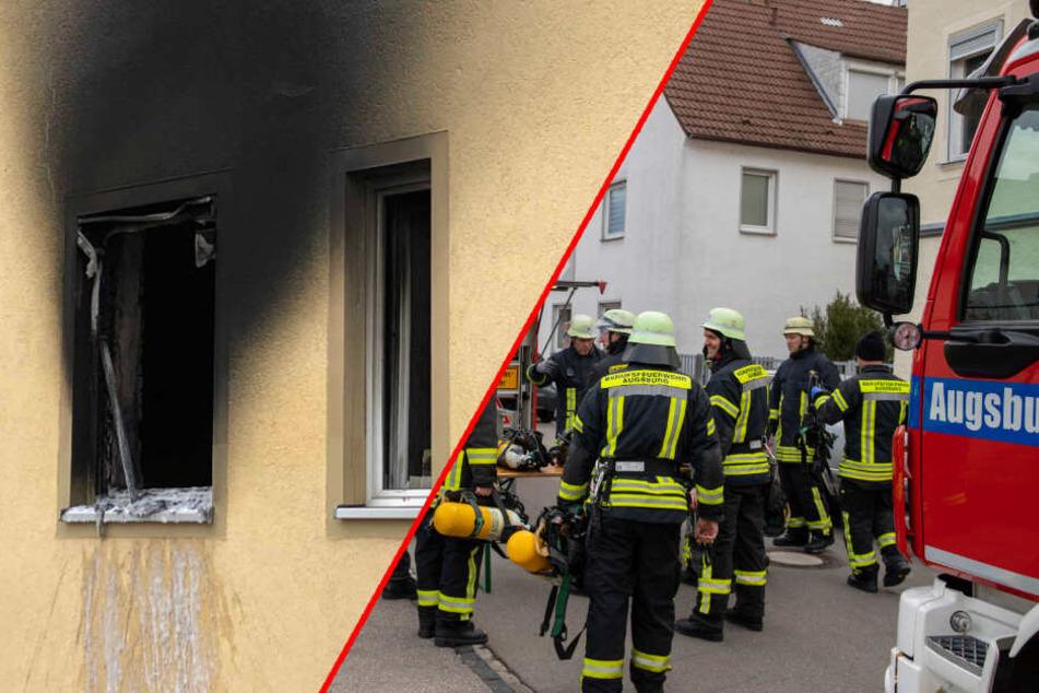Feuerwehr muss Menschen aus brennendem Haus retten, Bewohner erleidet schwere Rauchvergiftung