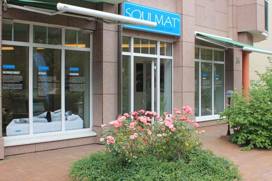Hier ist Freitag und Samstag Probeliegen: die Soulmat-Filiale in der Weststraße 34 in Chemnitz.