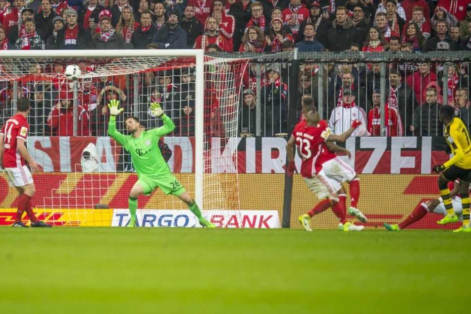 Hier trifft Dembélé zum 3:2 für den BVB und dem damit verbundenen Einzug in den DFB-Pokal.