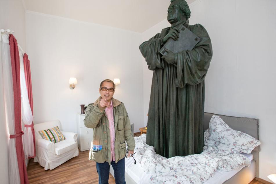Der japanische Küntsler Tatzu Nishi hatte die Installation in Eisenach gestaltet.