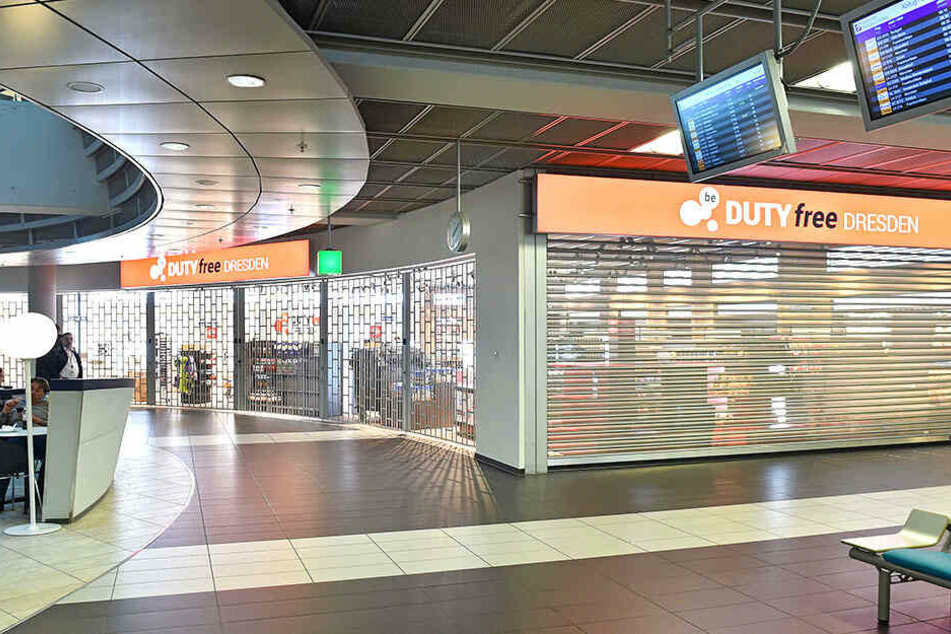 Der Duty-free-Shop am Dresdner Flughafen vor der Eröffnung.