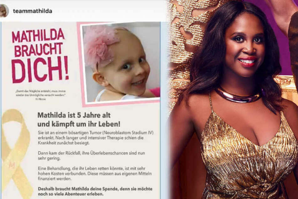 Die Montage zeigt links einen Screenshot des Aufrufs, den Motsi Mabuse am Montag als Instagram-Story veröffentlichte.