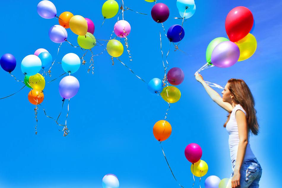 Schön anzusehen, aber gefährlich für die Umwelt: Luftballons.