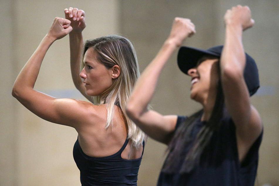 Helene Fischer tanzt bei den Proben für die HeleneFischer Tour 2017.