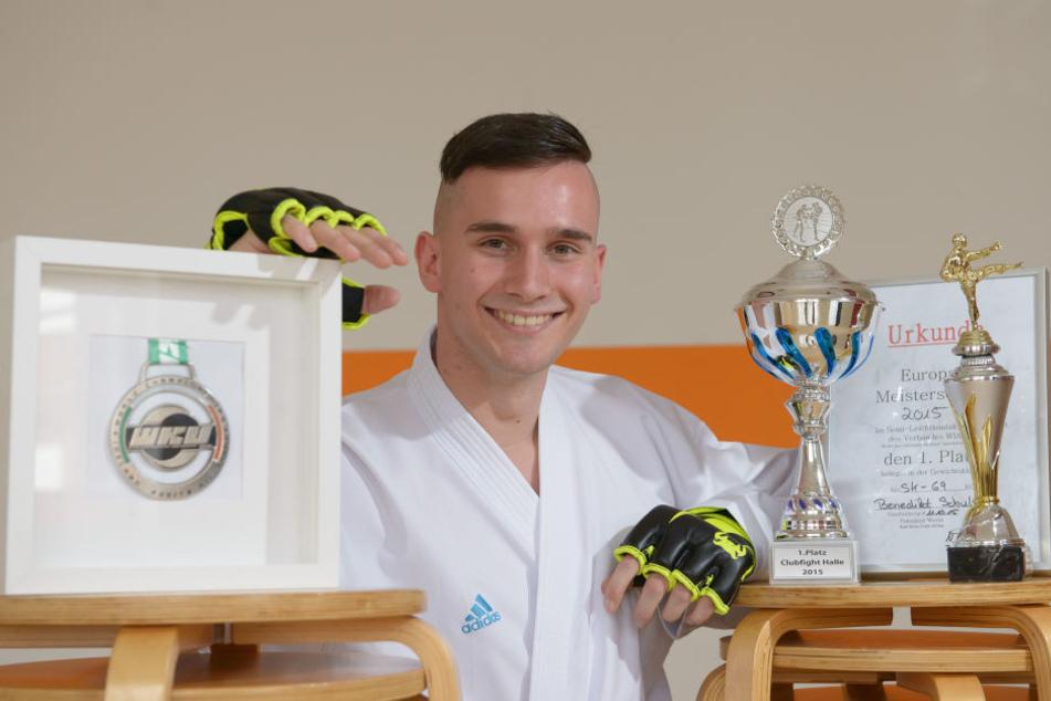 Benedikt Schult (24) kann bereits auf eine beachtliche Pokal-Sammlung blicken.
