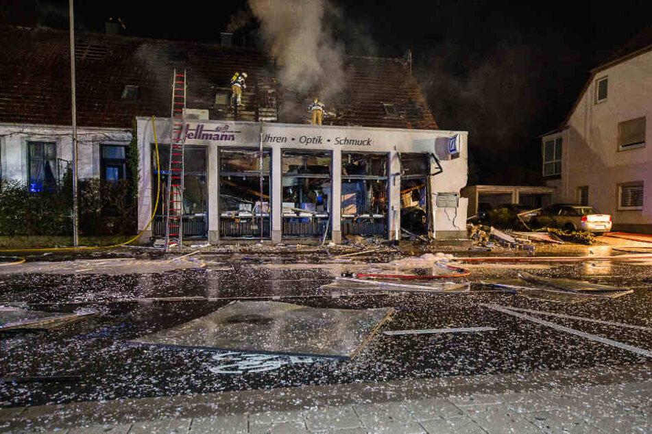Die Explosion hinterließ ein reines Trümmerfeld.
