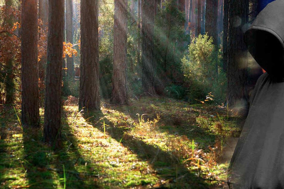 In einem Waldstück bei Grünhain-Beierfeld lehnte der Mann an einem Baum und onanierte.