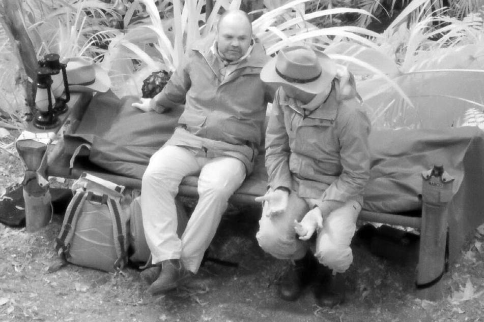 Sven Ottke (l.) und Marco Cerullo plaudern bei der Nachtwache-