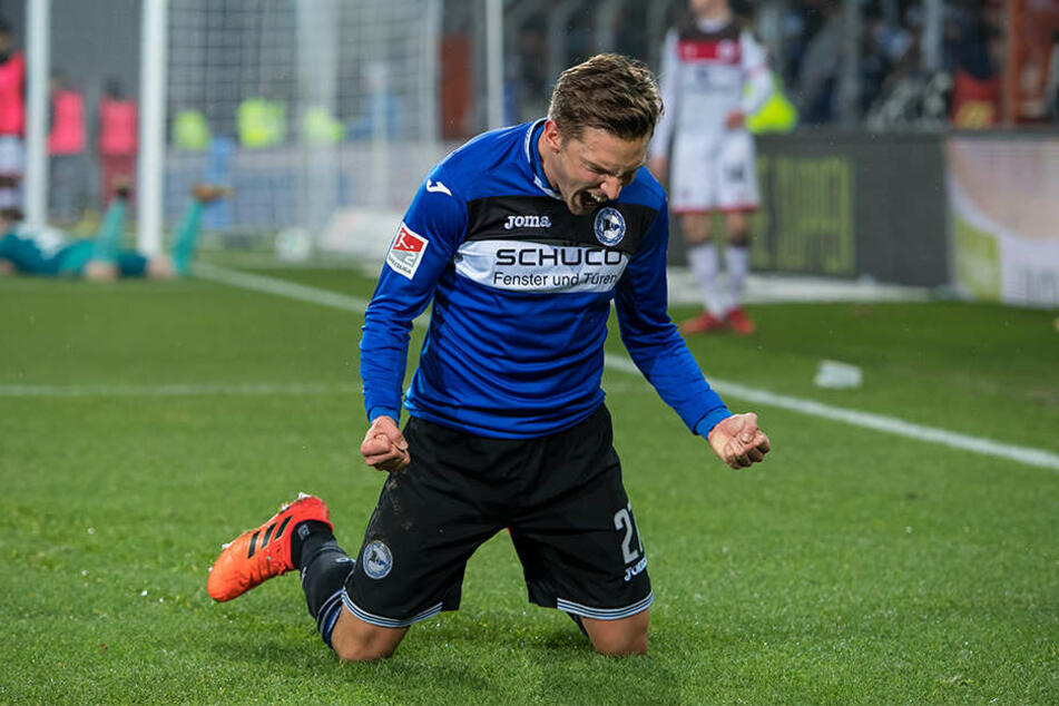 In der 77. Minute schoss Konstantin Kerschbaumer gegen St. Pauli das 4:0.
