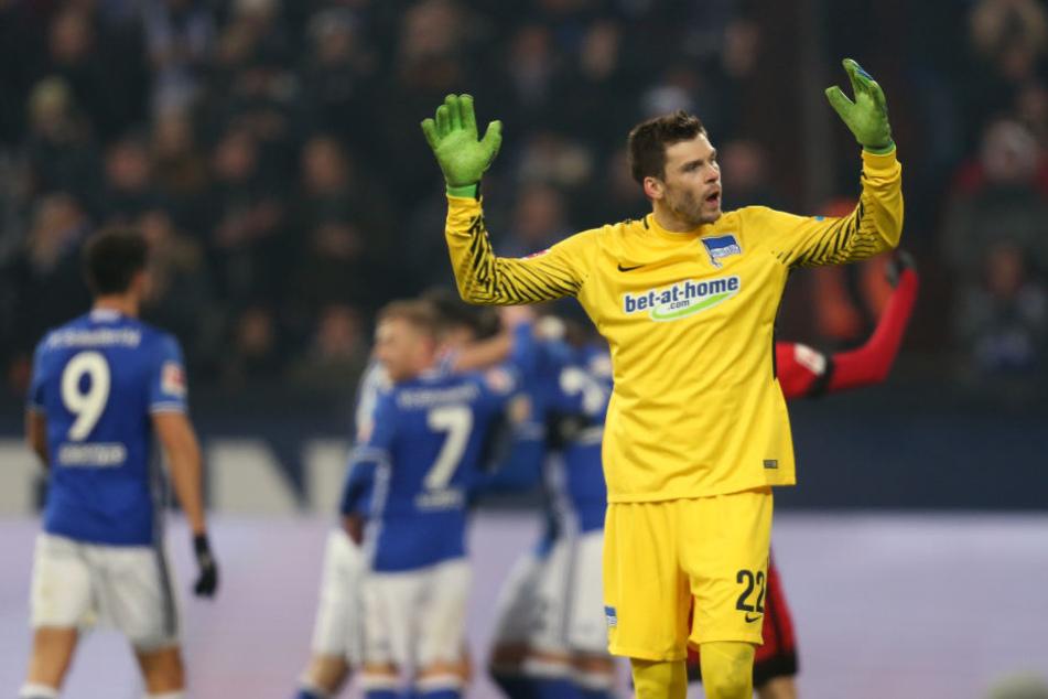 Hertha-Keeper Rune Jarstein hütet bis 2021 das Tor der Berliner.