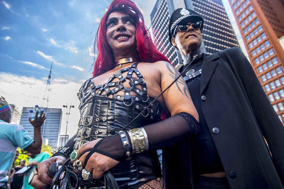 Offenherzig und gut gelaunt zeigten sich Schwule, Lesben und Transsexuelle 2017 in Sao Paulo, Brasilien. Hier werden die Gay-Pride-Paraden erlaubt.