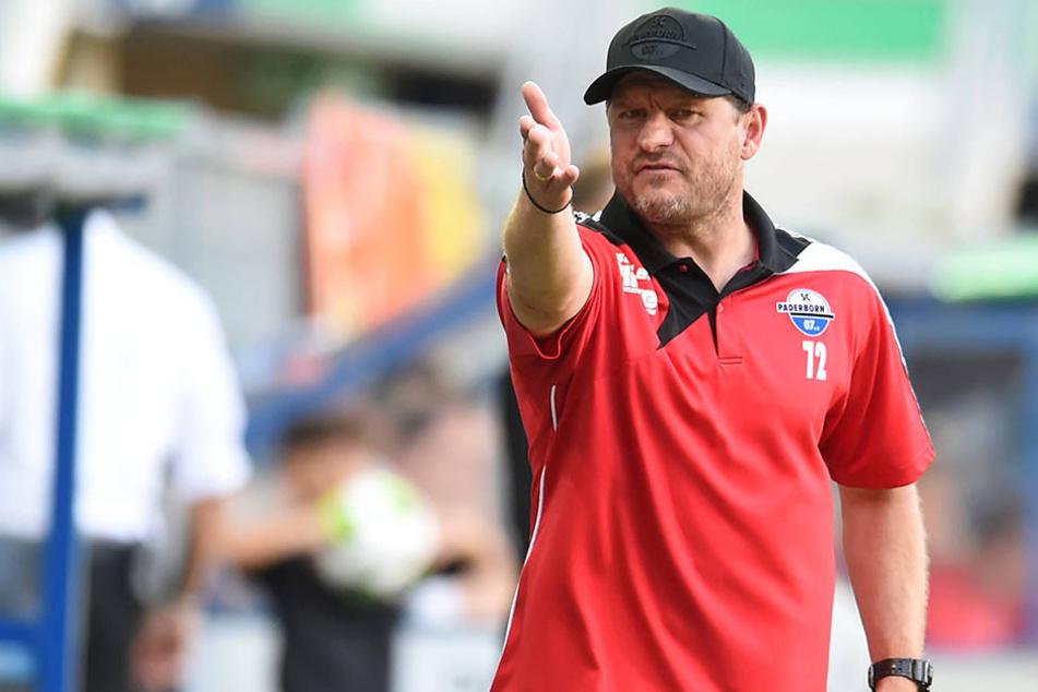 SC Paderborn-Trainer Steffen Baumgart (45) will mit den Fans ein gutes Spiel liefern.