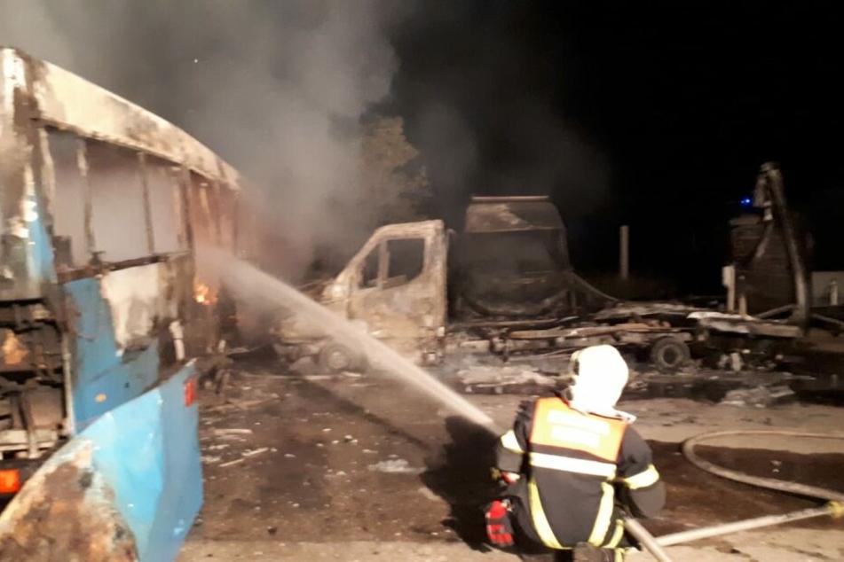 Die Feuerwehr musste in der Nacht nach Meißen ausrücken.