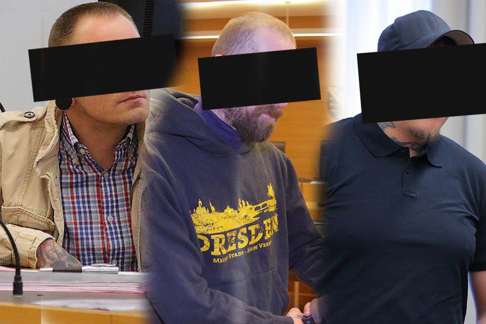 Die drei Angeklagten waren vor Gericht plötzlich ganz kleinlaut.