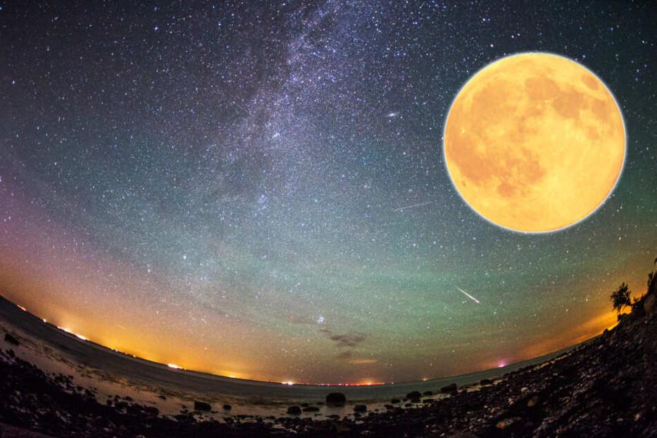 Erdbeermond & Meteoriden: Spektakuläre Aktivität im Weltall zu sehen