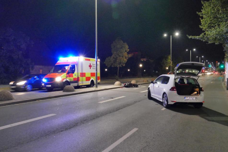 In Nürnberg kam es in der Nacht auf Samstag zu einem schweren Unfall.