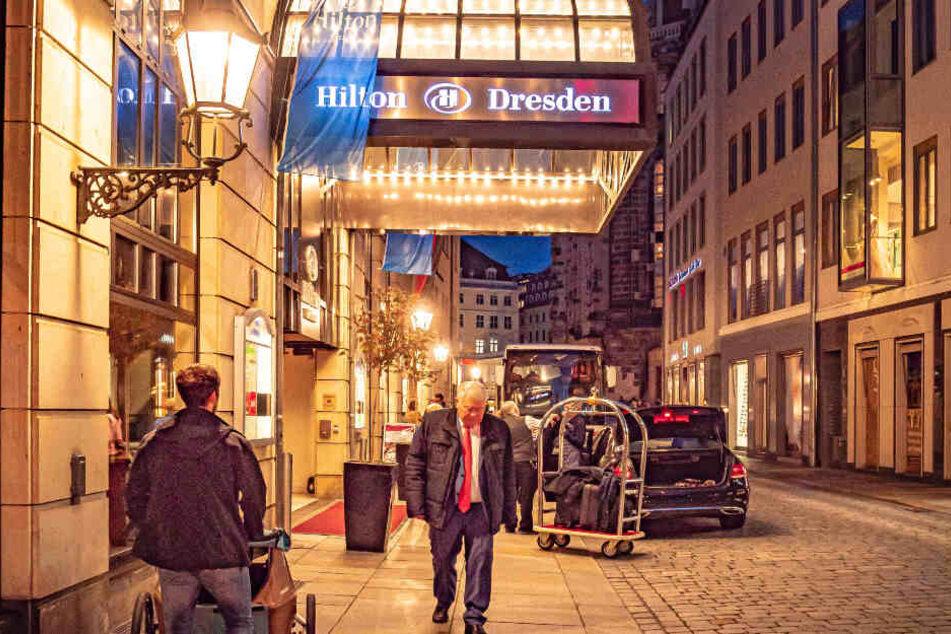Im Hotel Hilton bezog der dreiste Dieb ein Zimmer und ging dann auf Klautour.