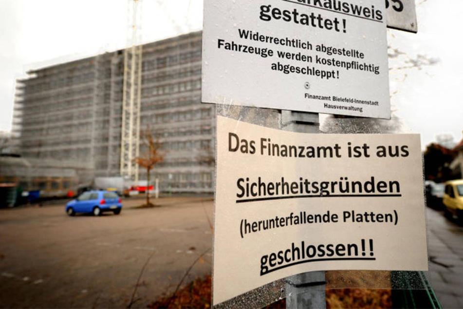 Anfang März musste das Finanzamt evakuiert werden.
