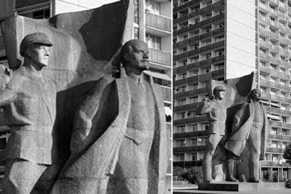 Das Lenin-Denkmal wurde 1974 auf dem damaligen Leninsplatz in Dresden aufgestellt.