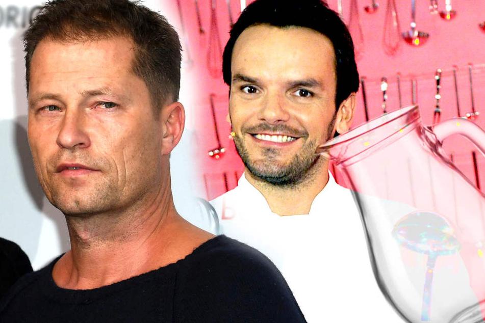 Wer reicht hier wem das Wasser? Links: Til Schweiger (53) - rechts: Steffen Henssler (44).