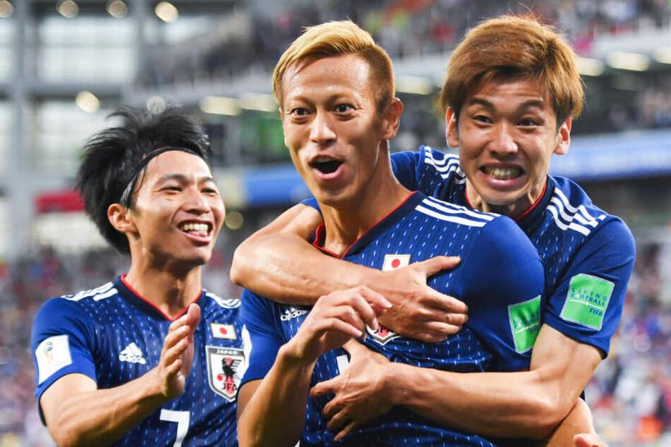 Keisuke Honda (M.) bestritt 98 Länderspiele für Japan und erzielte 37 Tore.