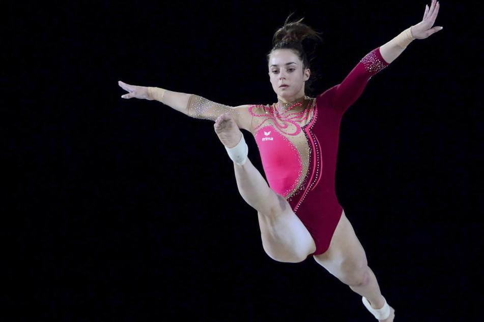 Pauline Schäfer überzeugte mit ihrer Leistung am Schwebebalken.