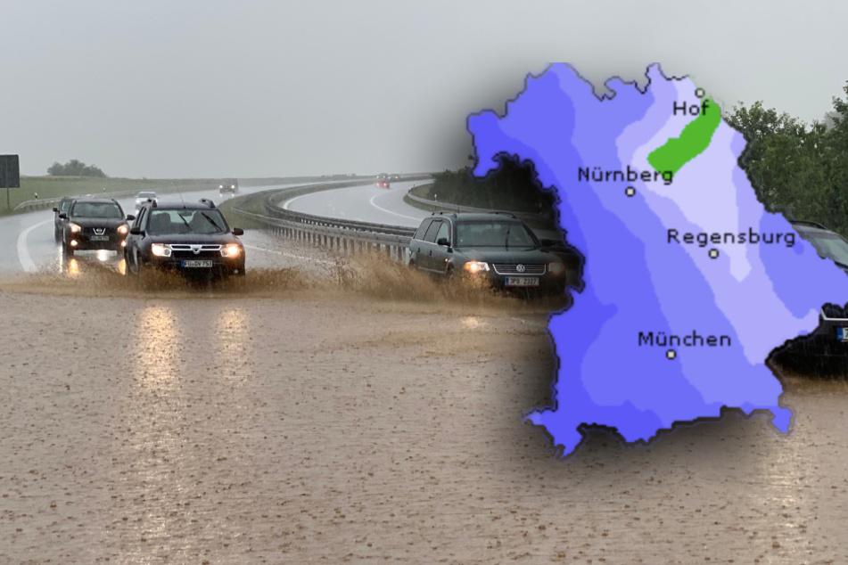 Starkregen, Gewitter, Hagel: So wird das Wetter in den kommenden Tagen in Bayern