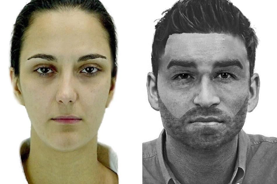 Diese Fahndungsbilder veröffentlichte die Polizei. Links die Frau die entführt wurde, rechts einer der mutmaßlichen Täter.