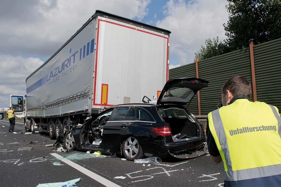 Unfall auf der A2 im Juli.