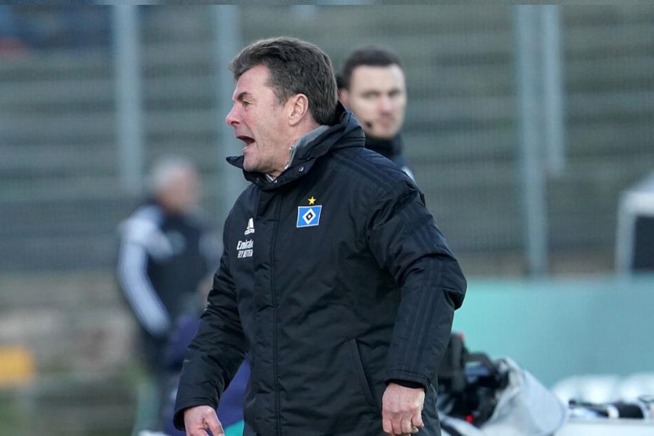 HSV-Trainer Dieter Hecking ist unzufrieden mit der Leistung der Mannschaft. (Archivbild)