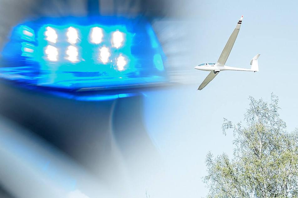 Segelflieger muss nahe Riesa notlanden, Pilot klettert unter Schock auf Gleise und sorgt für Zug-Chaos