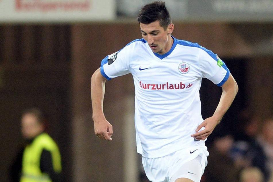 Derr Noch-Rostocker Marco Kofler sucht einen neuen Verein. Wird der FSV Zwickau der nächste Arbeitgeber des defensiven Mittelfeldspielers?